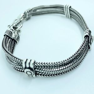 Tibetan Silver Artisan Handcrafted Bracelet